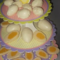 Coconut ice eggs