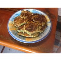 Zucchini, potato and carrot rostis