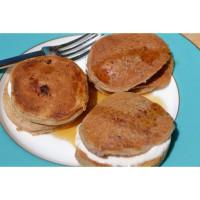 Strawberry yoghurt and choc chip pancakes