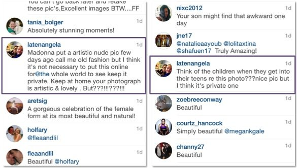 megan gale_fans turn on her post