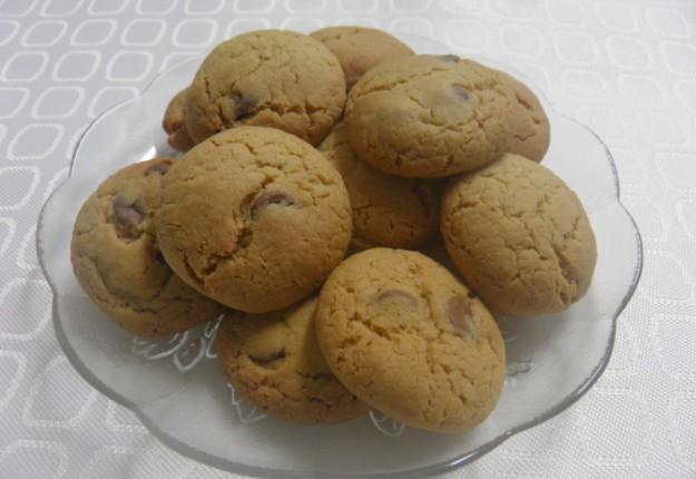 Choc bit cookies