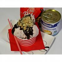 No-churn raspberry cheesecake ice-cream