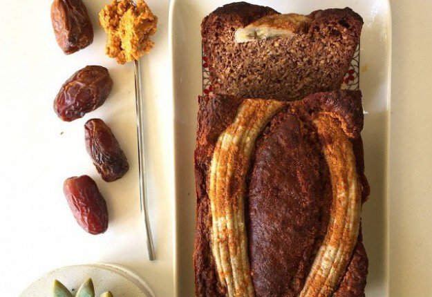 Sugar-free recipe for Peanut Butter Banana Bread