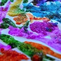 Epsom salt painting