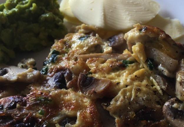 Mushroom scrambled eggs