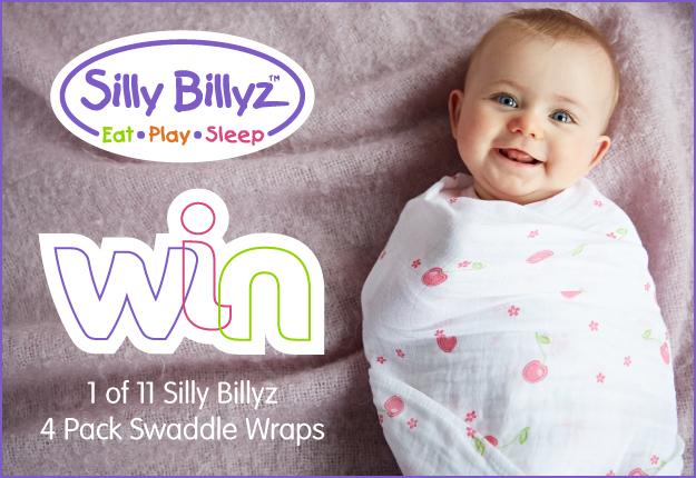 WIN 1 of 11 Silly Billyz Muslin Swaddle 4 packs