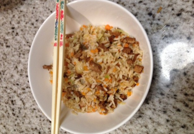 Rice dinner – leftover roast!