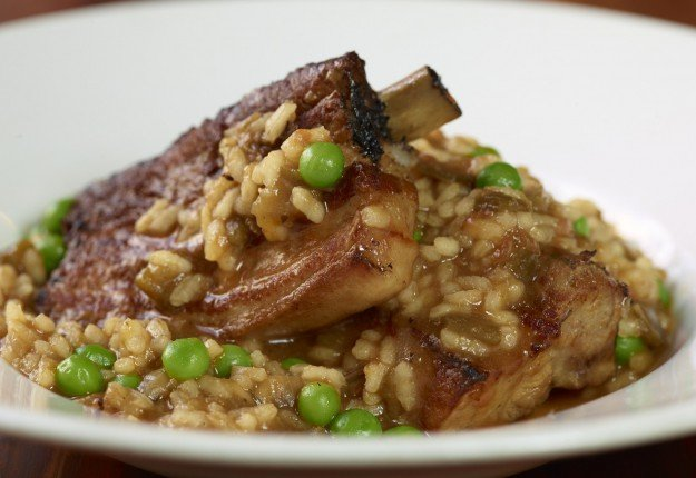 Wet rice with pork ribs and beans