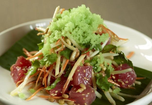 Yellow fin tuna, apple, wasabi & ponzu salad