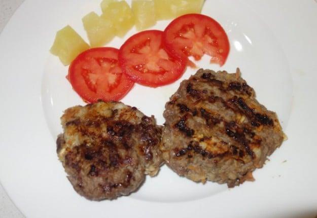Homemade mince burgers