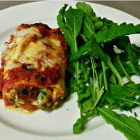 Three Cheese Spinach Lasagne Roll Ups