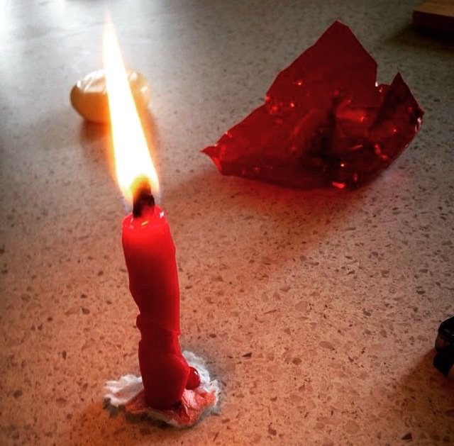 Babybell wax candle
