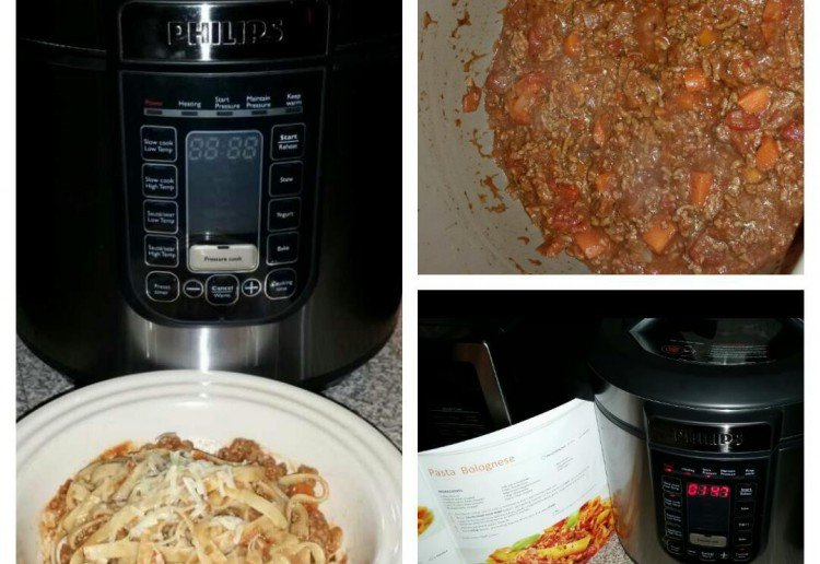 Slow cooked spaghetti bolognese