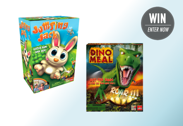 WIN 1 of 8 new Jumping Jack & Dino Meal kids games!
