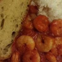 Tomato and garlic prawns