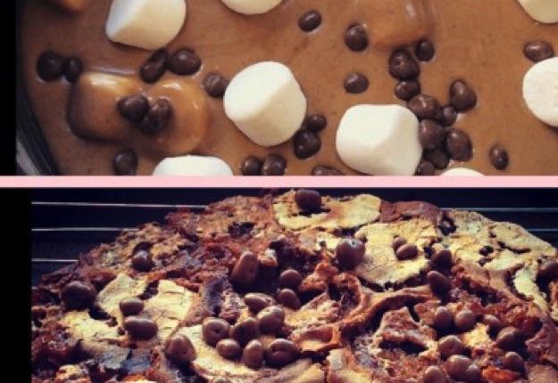 Chocolate honeycomb marshmallow cake