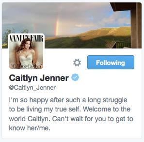Caitlyn Jenner Twitter account