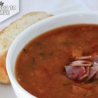 Tomato, basil and bacon soup