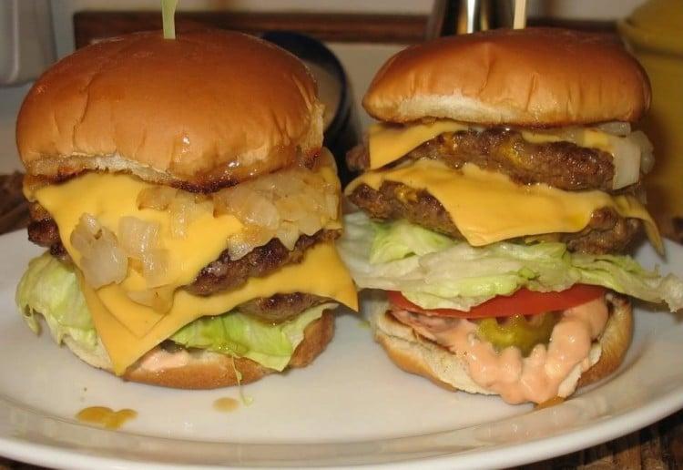 Sandi's mega burger