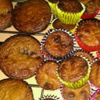 Chocolate chip cupcakes with vegetables
