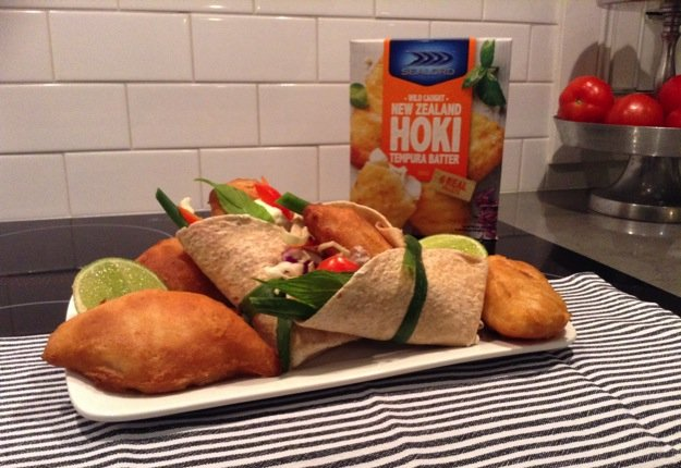 Mini Hoki Tacos with Mexican Slaw