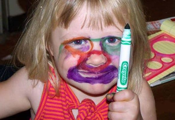 When good kids do bad things_kid with green crayola_585x402