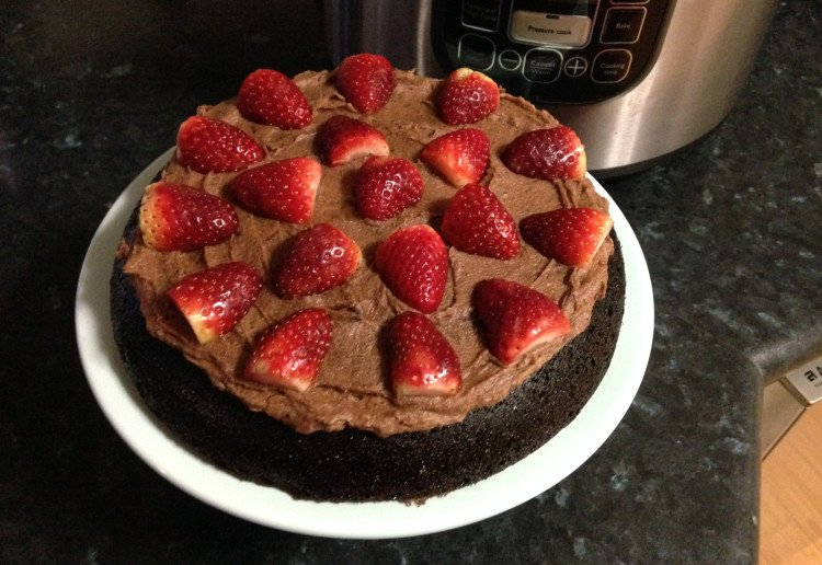 Beetroot chocolate cake with refined sugar free icing