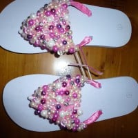 Blingy bead thongs