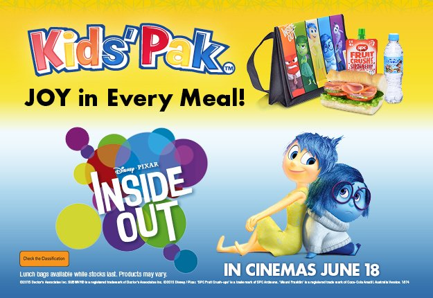 WIN family passes to Disney Pixar's Inside Out OR a merchandise pack!