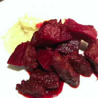 Kangaroo and beetroot casserole