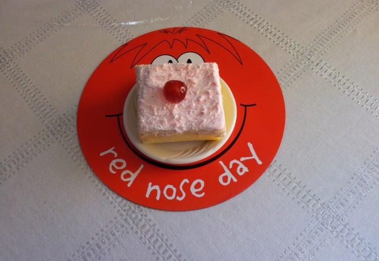 Red Nose Day vanilla slice