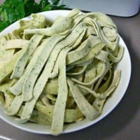 Fresh parsley pasta