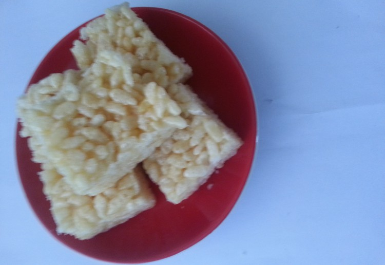 Lemon rice bars