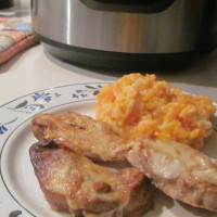 Chicken fillets with carrot and parsnip mash
