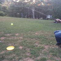 Baseball meets fishing, what a clever dad!