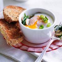 Sesame And Shallot Egg Pots