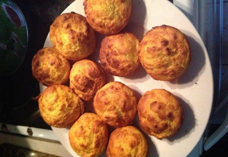 Orange pulp muffins