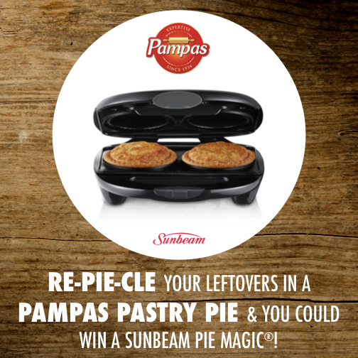 Win a Pie Magic with Pampas_sunbeam pie magic_repieclye your leftovers into a pampas pastry pie and you could win a sunbeam pie magic_504