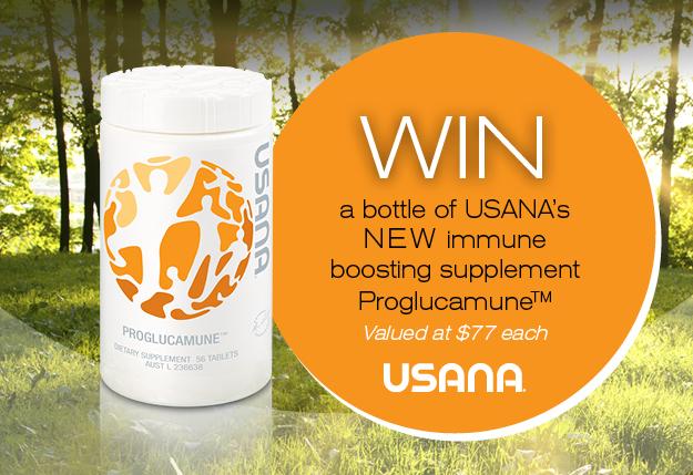 WIN 1 of 7 bottles of USANA's immune-boosting supplement Proglucamune