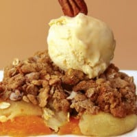 Fruit and nut cobbler