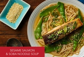 Campbells Real Soup Base_Asian_Sesame Salmon and Soba Noodle Recipe