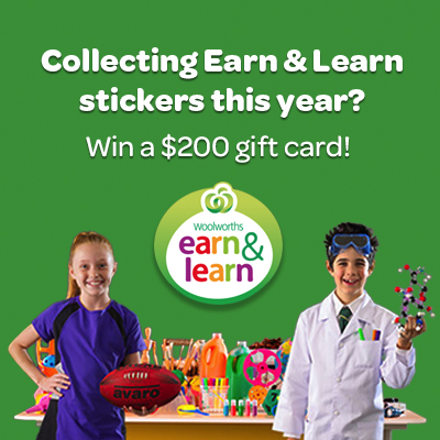 WIN $200 gift cards with Woolworths Earn & Learn_round 1_504x504