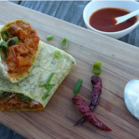 Chipotle, kumara and peanut butter wrap