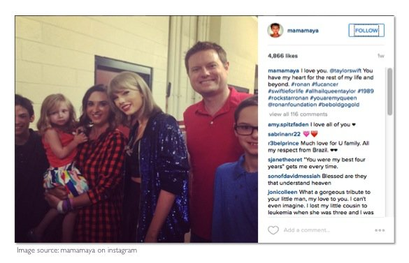 taylor swift sings tribute to ronan thompson_ronans family with taylor swift