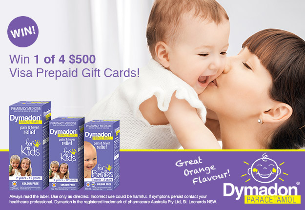 pipefly reviewed WIN 1 of 4 $500 vouchers with the Dymadon® Smile competition