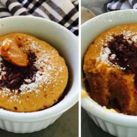 1 minute Choc Caramel Cake