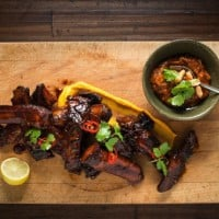 Sticky braised pork ribs