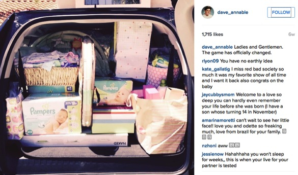 Brothers and Sisters star Dave Annable melts our heart_car full of baby stuff