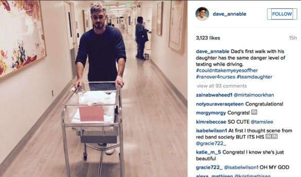 Brothers and Sisters star Dave Annable melts our heart_first ride in the hospital crib