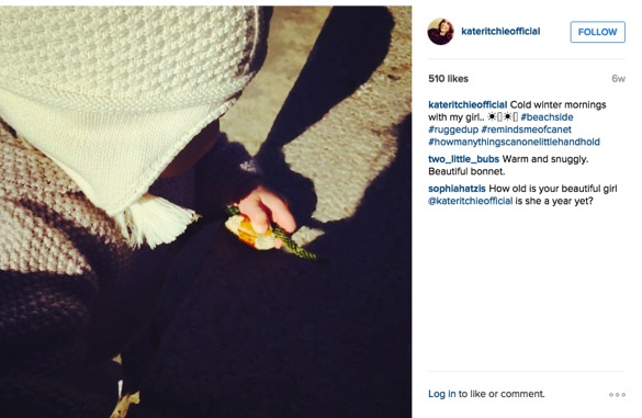 how kate ritchie is coping with being mum to mae_cold winter morning with mae